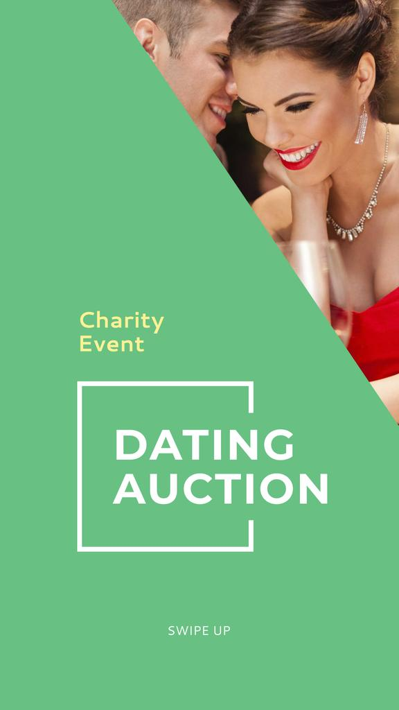 Charity Event Announcement with Couple in Restaurant Instagram Story Design Template