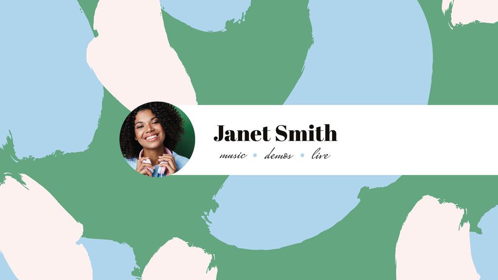 Singer profile with Smiling Girl — Crear un diseño