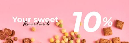 Template di design Cereals Offer in pink Email header