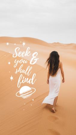 desert girl Instagram Story – шаблон для дизайна