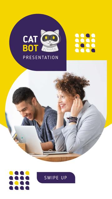 Template di design Bot Presentation Ad with People using laptops Instagram Story