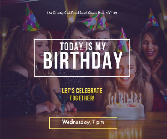 Template di design Birthday party in South Ozone park Large Rectangle