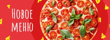 Delicious Italian pizza menu Facebook cover – шаблон для дизайна