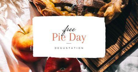 Template di design Delicious Apple Pie Facebook AD