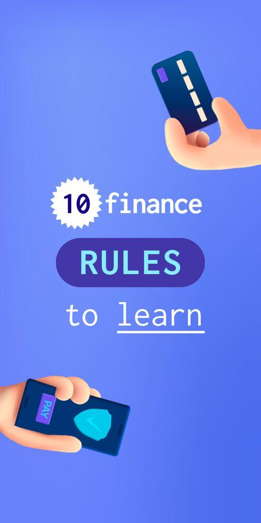 Modèle de visuel Finance Rules with Banking application - Graphic