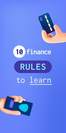 Finance Rules with Banking application Graphic Design Template