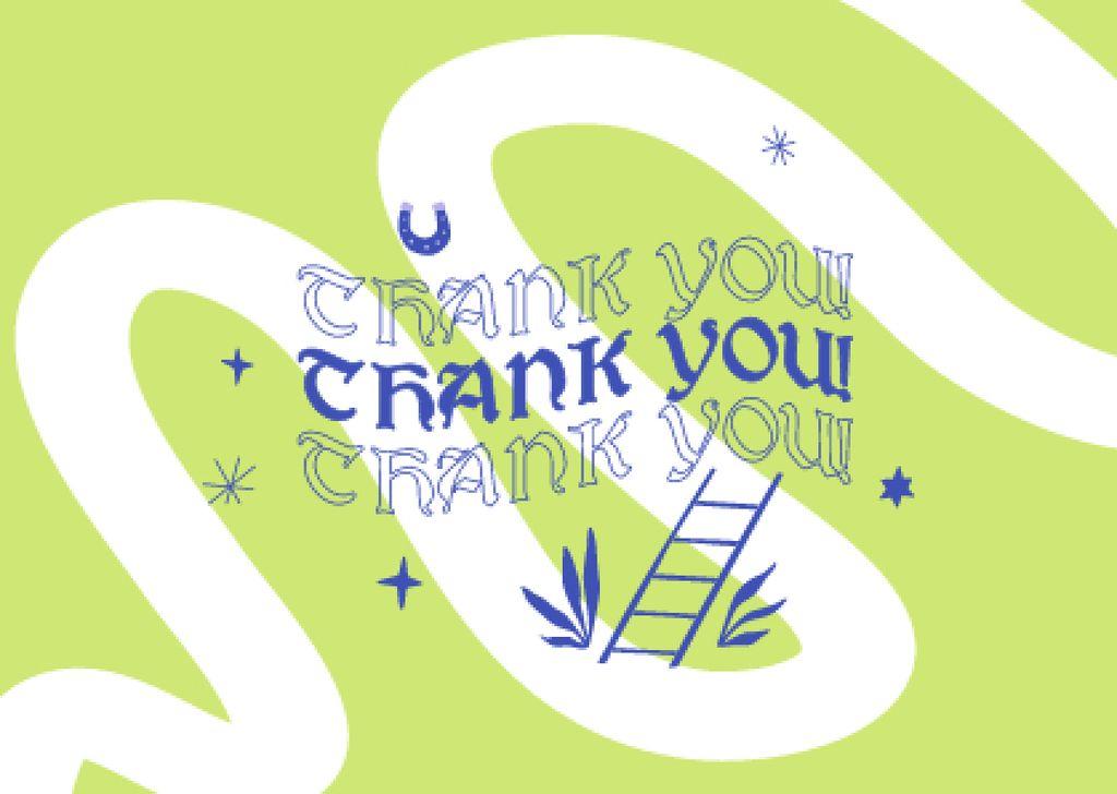 Thankful Lettering with Cute Illustration Card – шаблон для дизайна