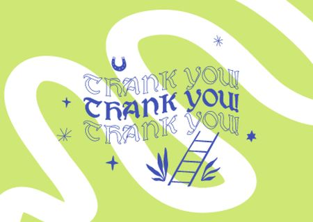 Plantilla de diseño de Thankful Lettering with Cute Illustration Card