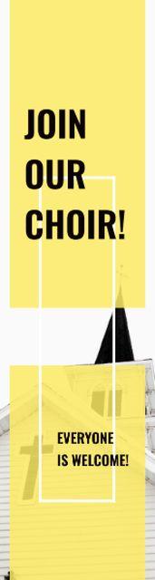 Ontwerpsjabloon van Skyscraper van Invitation to a religious choir