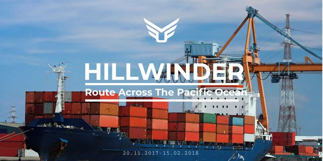 Pacific Ocean shipping company Twitter – шаблон для дизайна