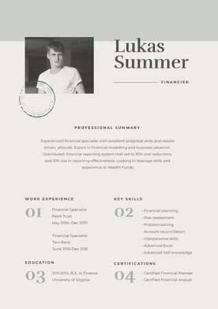 Plantilla de diseño de Design template by Crello Resume