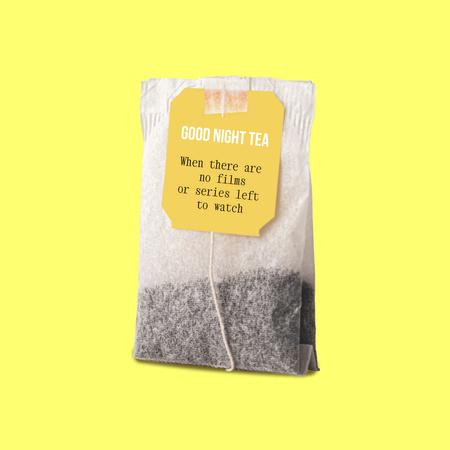 Platilla de diseño Funny Joke with Tea Bag Instagram