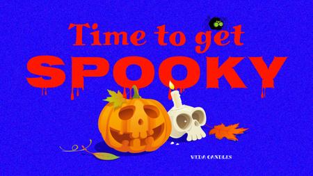 Candy Shop offer with Halloween Pumpkin Youtube Thumbnail Tasarım Şablonu
