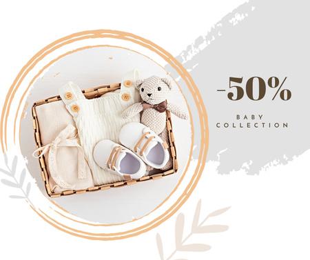 Plantilla de diseño de Baby Clothes Collection Discount Offer Facebook