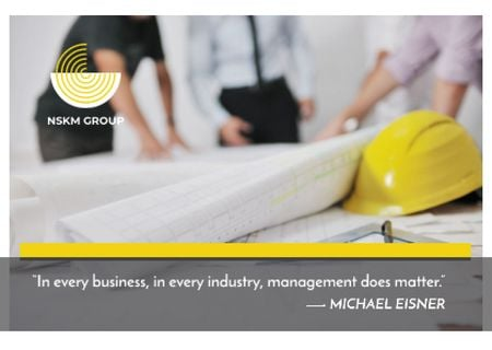 Template di design Business quote with Workers Card