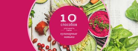 Dips with greens and vegetables Facebook cover – шаблон для дизайна