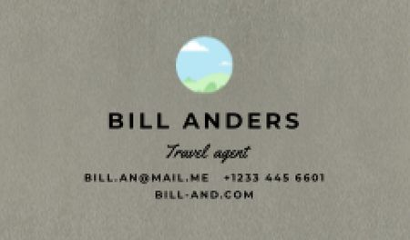 Plantilla de diseño de Travel Agent professional contacts Business card
