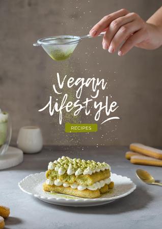 Modèle de visuel Vegan Lifestyle Concept with Delicious Cake - Poster