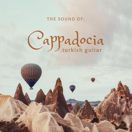 Turkish Music Inspiration with Air Balloons Album Coverデザインテンプレート
