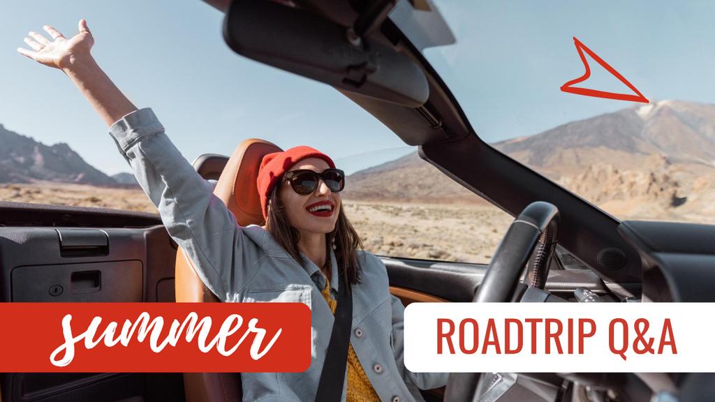 Plantilla de diseño de Summer Trip Inspiration with Woman in Desert Youtube Thumbnail