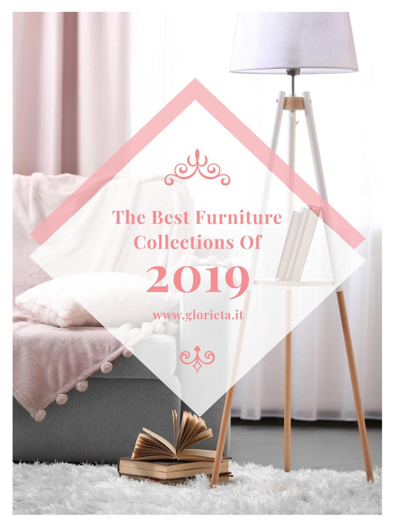 Furniture Offer Cozy Interior in Light Colors — Créer un visuel