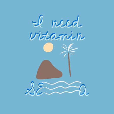 Modèle de visuel Cute Phrase about Sea - Instagram