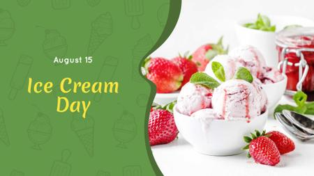 Modèle de visuel Strawberry Ice Cream Scoops - FB event cover