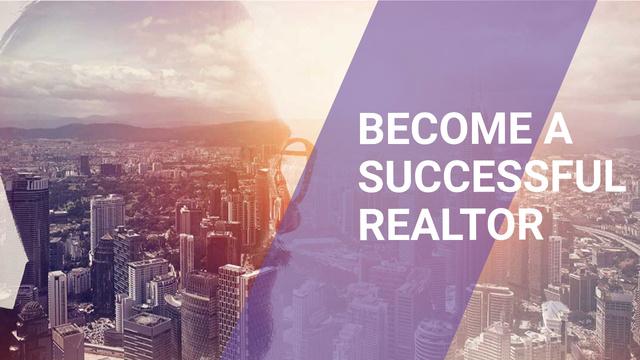 Plantilla de diseño de Real Estate Agent on City Background Youtube Thumbnail