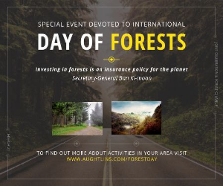 Special Event devoted to International Day of Forests Medium Rectangle Modelo de Design