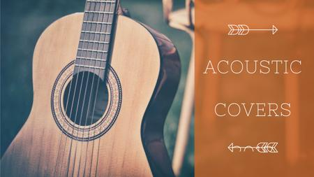 Plantilla de diseño de Acoustic Music Ad Wooden Guitar Youtube Thumbnail