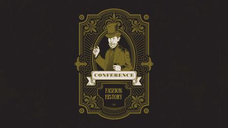 Modèle de visuel Fashion History Conference Announcement - FB event cover