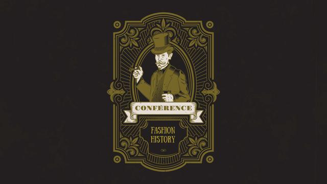 Plantilla de diseño de Fashion History Conference Announcement FB event cover