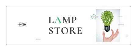 Template di design Eco Light Bulb with Leaves Facebook cover