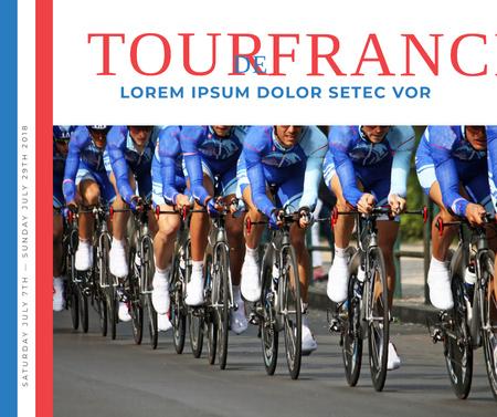 Designvorlage Tour de France Cyclists on road für Facebook