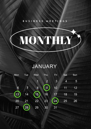 Template di design Business Meeting Monthly Planning Schedule Planner