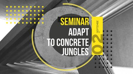 Ontwerpsjabloon van FB event cover van Architectural Seminar with Concrete Construction