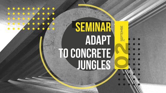 Modèle de visuel Architectural Seminar with Concrete Construction - FB event cover