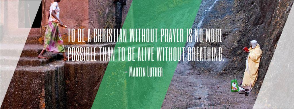 Religion citation about Christian faith — Crea un design