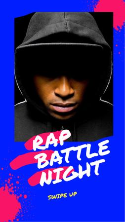 Rap Battle Night Announcement Instagram Story – шаблон для дизайну
