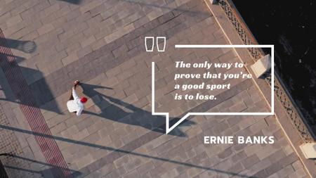 Designvorlage Sporting Quote Man Training in City für Full HD video