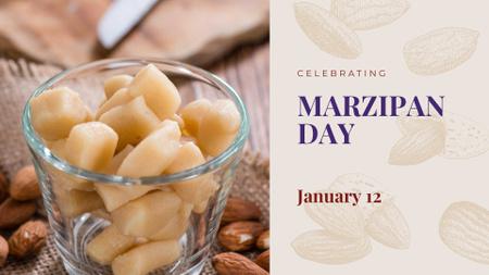 Marzipan confection day celebration FB event cover Modelo de Design