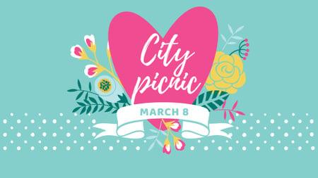 City Picnic on March 8 Announcement FB event cover – шаблон для дизайну