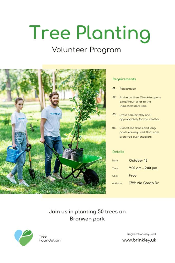 Volunteer Program Team Planting Trees Tumblr Design Template