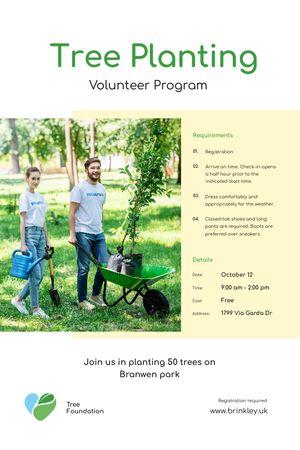 Szablon projektu Volunteer Program Team Planting Trees Tumblr