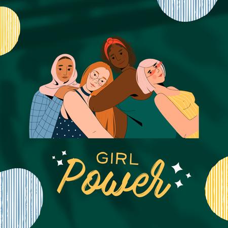 Girl Power Inspiration with Diverse Women Instagram Modelo de Design