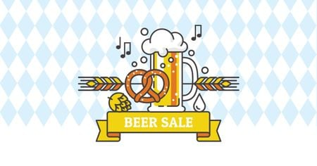 Template di design Beer Sale with Traditional Oktoberfest treat Facebook AD