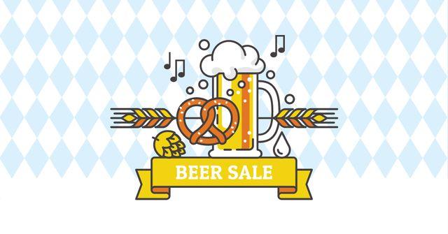 Modèle de visuel Beer Sale with Traditional Oktoberfest treat - Facebook AD