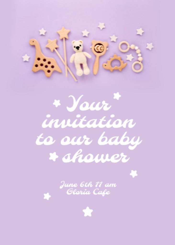 Baby Shower Celebration Announcement Invitation – шаблон для дизайна