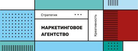 Business Agency ad on geometric pattern Facebook cover – шаблон для дизайна