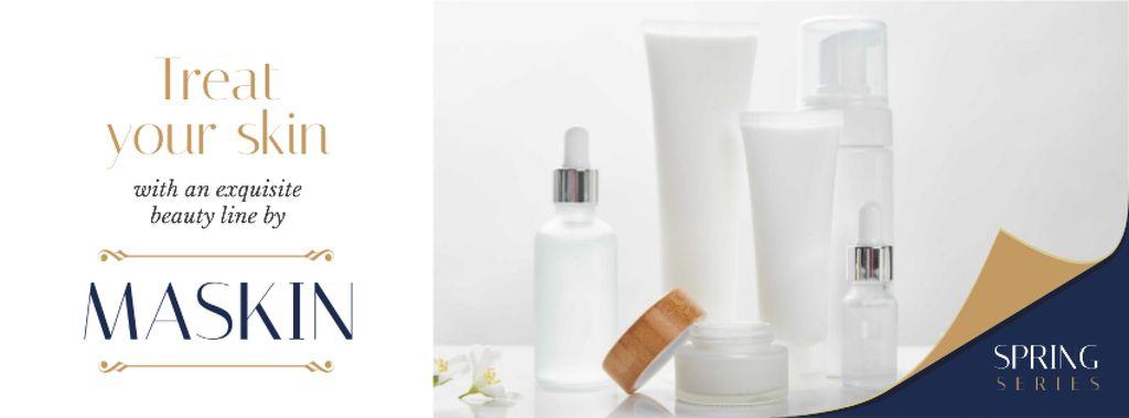 Cosmetics Ad Skincare Products Mock up — Crea un design